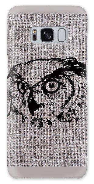 Owl On Burlap Galaxy Case