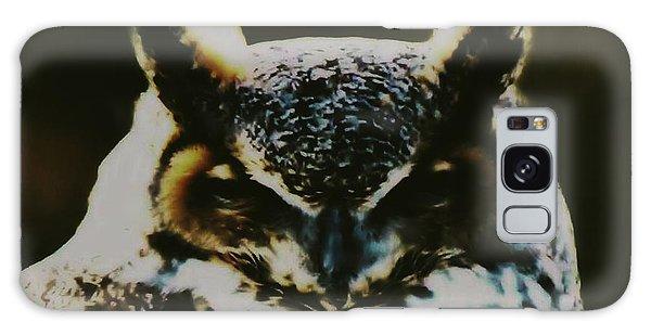 Owl Portrait Galaxy Case