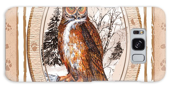 Owl Tracking His Prey Galaxy Case