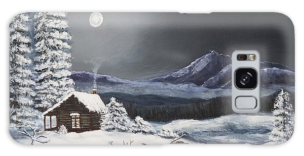 Owl Watch On A Cold Winter's Night Original  Galaxy Case by Kimberlee Baxter