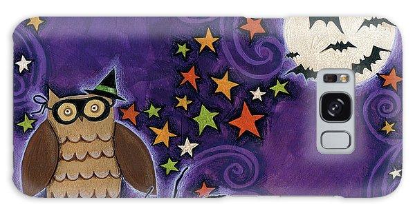 Owl With Mask Galaxy Case by Anne Tavoletti