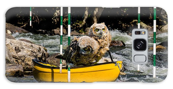 Owlets In A Canoe Galaxy Case