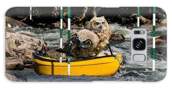 Owlets In A Canoe Galaxy Case