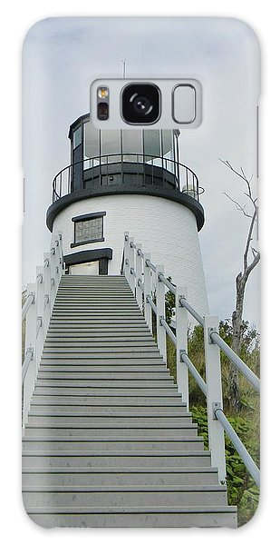 Owls Head Lighthouse Galaxy Case by Jean Goodwin Brooks