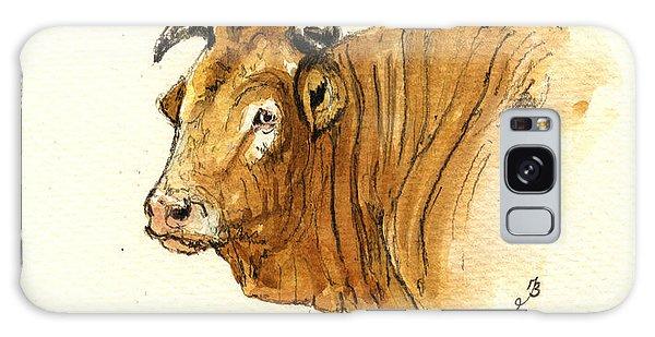 Bull Galaxy Case - Ox Head Painting Study by Juan  Bosco