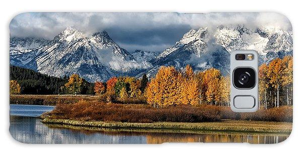 Teton Range Galaxy Case - Oxbow Morning by Kathleen Bishop