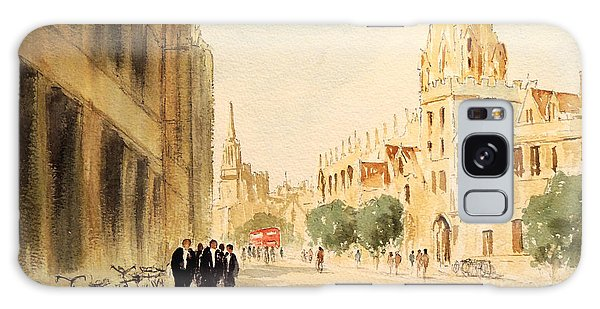Galaxy Case featuring the painting Oxford High Street by Bill Holkham