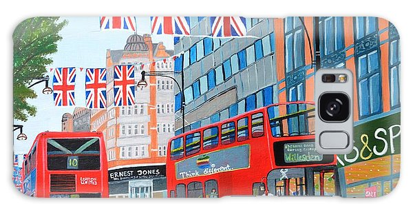 Oxford Street- Queen's Diamond Jubilee  Galaxy Case by Magdalena Frohnsdorff