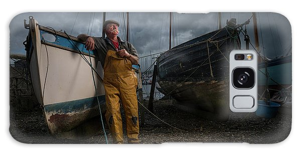 Docked Boats Galaxy Case - Oyster Catcher by Mk.