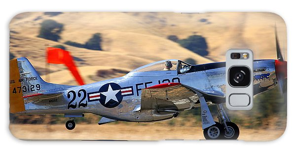 P51 Merlin's Magic On Take-off Roll Galaxy Case