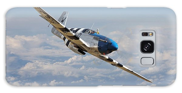 P51 Mustang - Symphony In Blue Galaxy Case