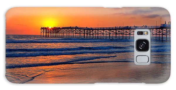 Pacific Beach Pier - Ex Lrg - Widescreen Galaxy Case by Peter Tellone