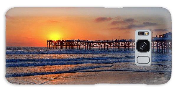 Pacific Beach Pier Sunset Galaxy Case