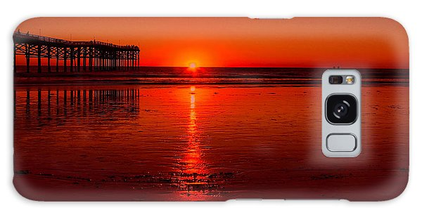 Pacific Beach Sunset Galaxy Case by Tammy Espino
