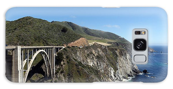 Pacific Coast Scenic Highway Bixby Bridge Galaxy Case by Carol M Highsmith
