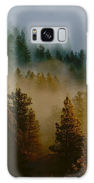 Pacific Northwest Morning Mist Galaxy Case