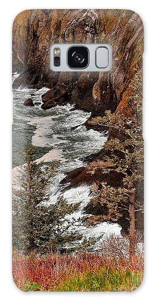 Pacific Ocean Cliff Line On Washington State Coast Galaxy Case