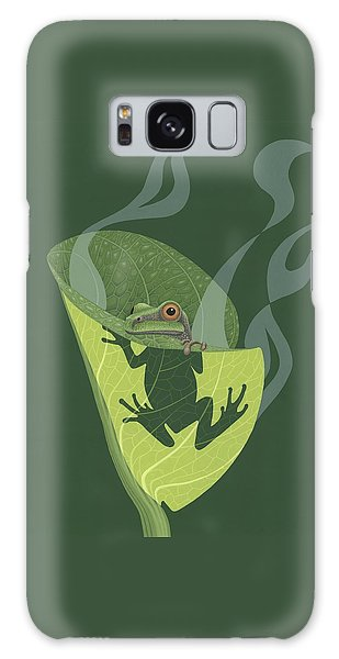 Pacific Tree Frog In Skunk Cabbage Galaxy Case