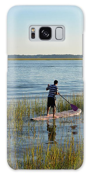Paddleboarder Galaxy Case by Margaret Palmer