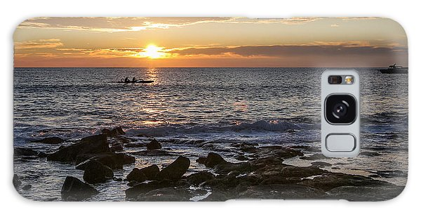 Paddlers At Sunset Horizontal Galaxy Case by Denise Bird
