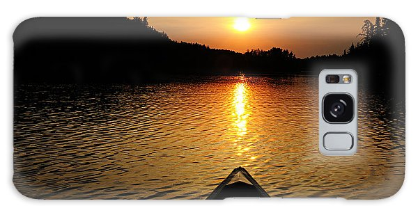 Paddling Off Into The Sunset Galaxy Case by Larry Ricker