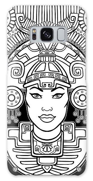 Indian Head Galaxy Case - Pagan Goddess. Motives Of Art Native by Zvereva Yana
