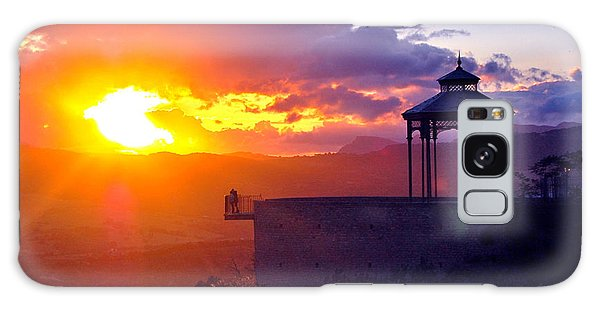 Galaxy Case featuring the photograph Pagoda Sunset by HweeYen Ong