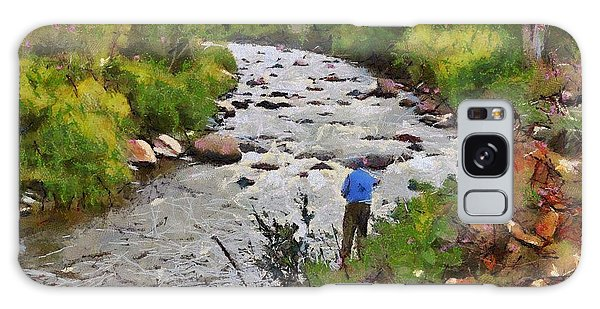 Pagosa Springs Colorado Fisherman Galaxy Case by Carrie OBrien Sibley