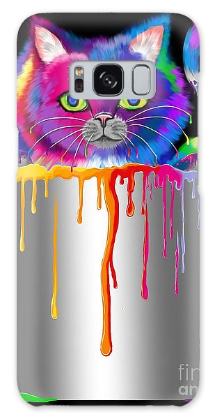 Paint Can Cat Galaxy Case