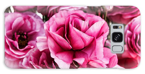 Paint Me Pink Ranunculus Flowers By Diana Sainz Galaxy Case