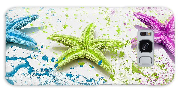 Paint Spattered Star Fish Galaxy Case