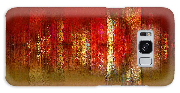 Paint The Town Red Galaxy Case by Stuart Turnbull
