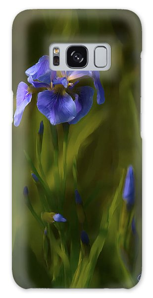 Painted Alaskan Wild Irises Galaxy Case