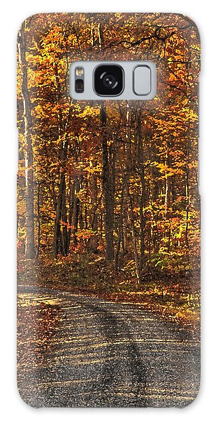 Painted Autumn Country Roads Galaxy Case