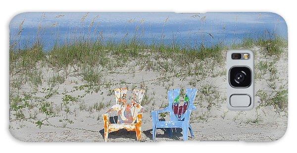 Painted Beach Chairs Galaxy Case by Ellen Meakin