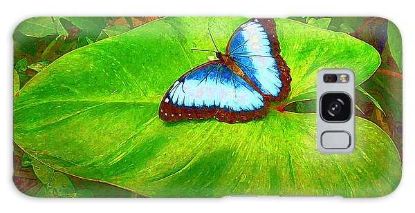 Painted Blue Morpho Galaxy Case