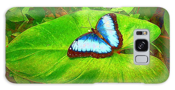Painted Blue Morpho Galaxy Case by Teresa Zieba