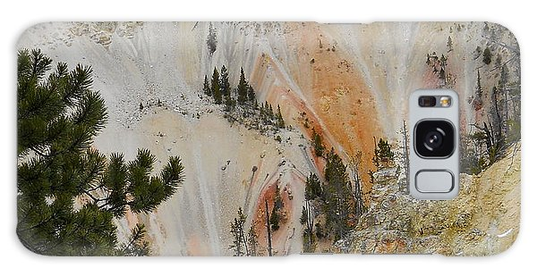 Painted Canyon At Lower Falls Galaxy Case by Michele Myers