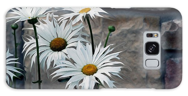 Painted Daisies Galaxy Case