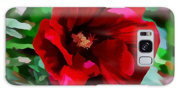 Painted Giant Red Hibiscus Galaxy Case