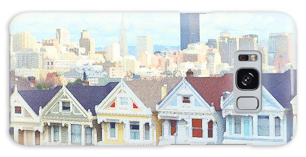 Painted Ladies Alamo Square San Francisco Galaxy Case