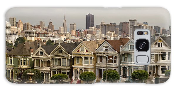 Painted Ladies Row Houses And San Francisco Skyline Galaxy Case