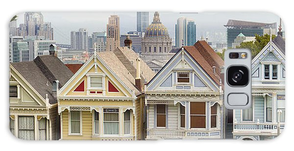 Painted Ladies Row Houses By Alamo Square Galaxy Case by Jit Lim