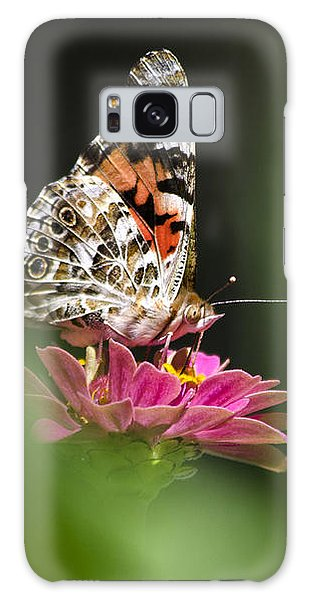 Galaxy Case featuring the photograph Painted Lady Butterfly At Rest by Christina Rollo
