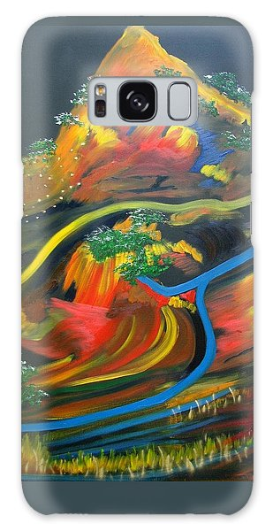 Galaxy Case - Painted Landscape by Joan Stratton
