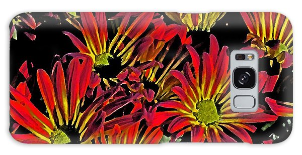 Painted Mums Galaxy Case by Judy Wolinsky