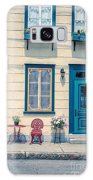 Quebec City Galaxy Case - Painted Townhouse In Old Quebec City by Edward Fielding