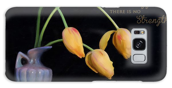 Painted Tulips With Message Galaxy Case
