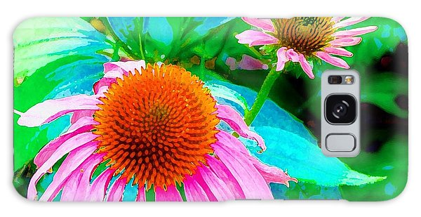 Painterly Coneflowers Galaxy Case