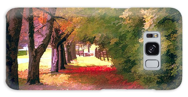 Painterly Forest Trail Galaxy Case by Jim Lepard